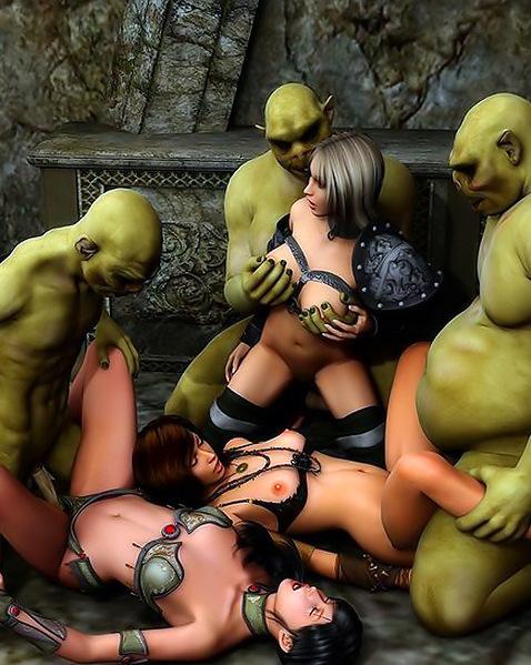 групповое порно с монстрами