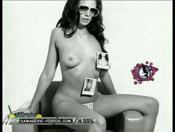 Argentina Model Topless for Sabado Bus damageinc-videos