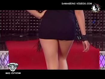 Culo en minifalda negra de Ivana Palliotti