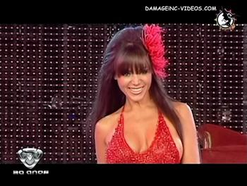 Argentina Model Natalia Fassi almost losing her tits on the catwalk