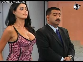 Argentina Celebrity Pamela David big tits and cleavage