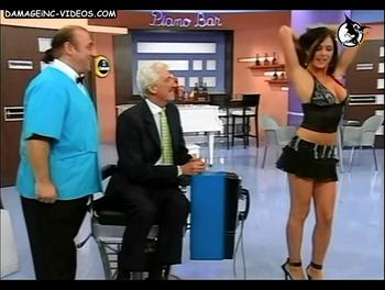 Argentina Celebrity Pamela David hot legs in miniskirt