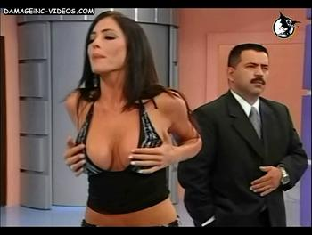 Pamela David deep cleavage and big breats