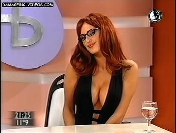 Silvina Luna hot cleavage damageinc